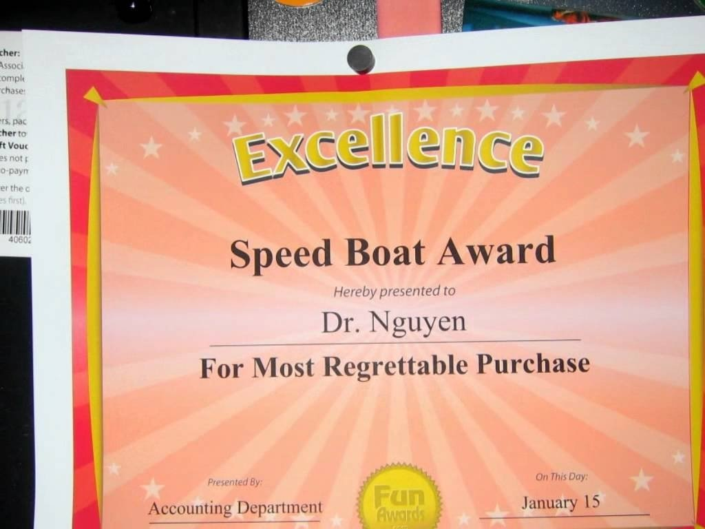 10 Perfect Funny Award Ideas For Employees funny certificates youtube