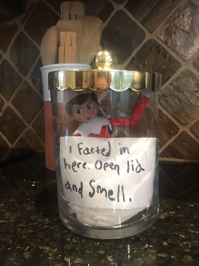 funny elf on the shelf ideas | popsugar moms