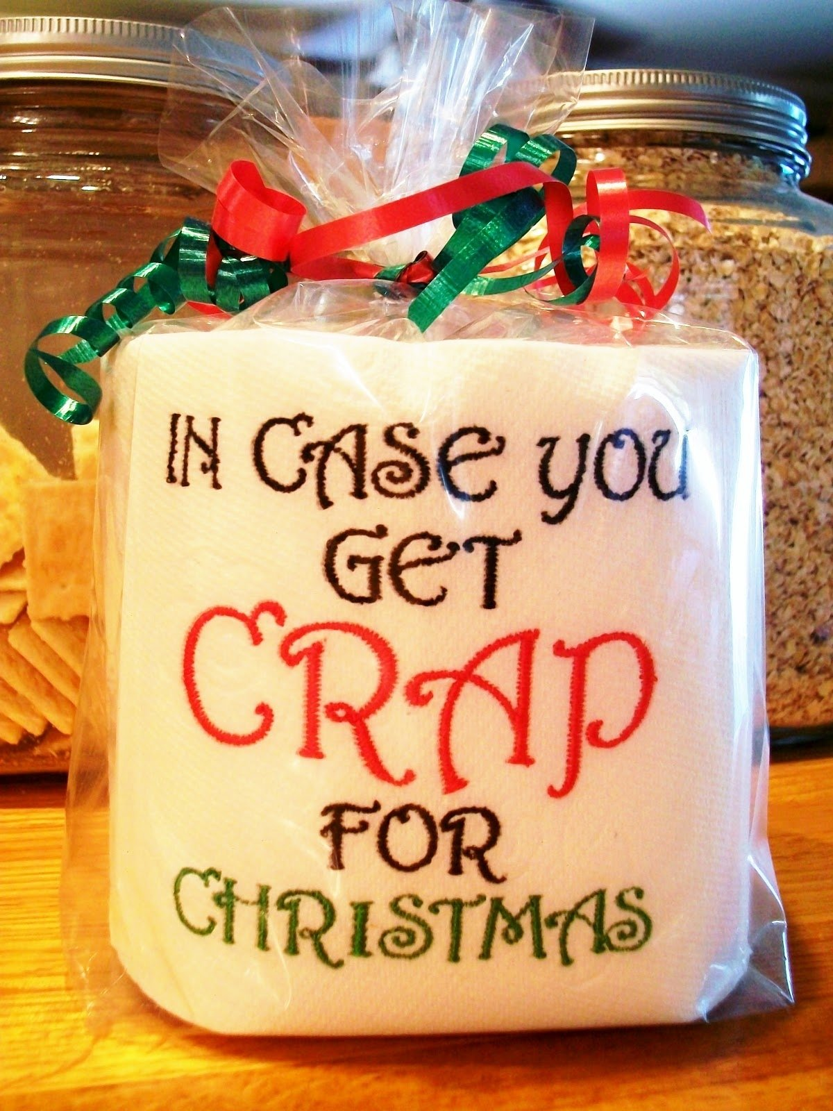 "funny #gag ""in case you get crap for christmas"" - useful and funny"