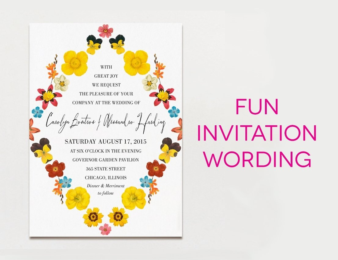 10 pretty fun wedding invitation wording ideas 10 pretty fun wedding invitation wording ideas funny wedding invitation wording sansalvaje filmwisefo
