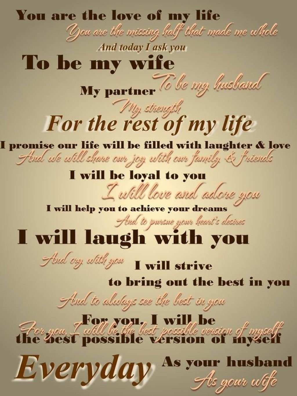 10 best wedding vow ideas for him