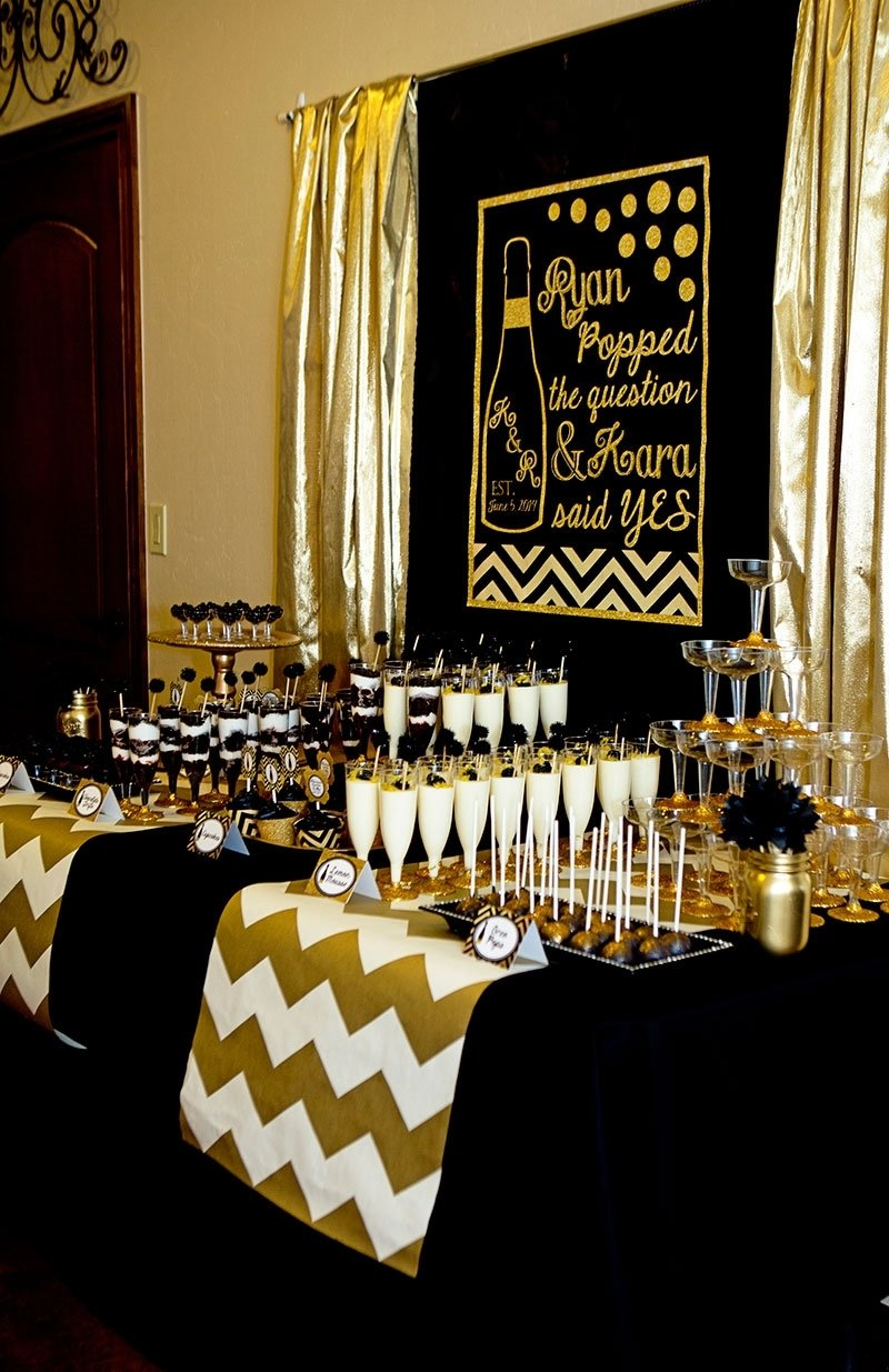 10 Fantastic Black And Gold Party Ideas furniture ideas black and gold 30th birthday party ideas 30th 1