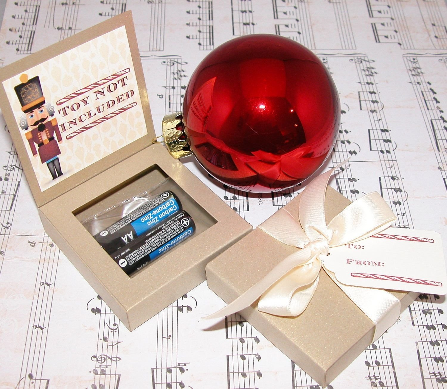 """gag gift- """"toy not included"""" 
