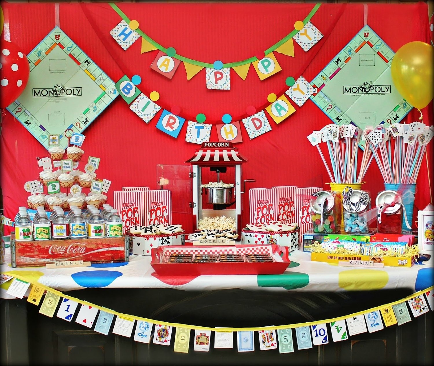 game night decorations- printable board game birthday party