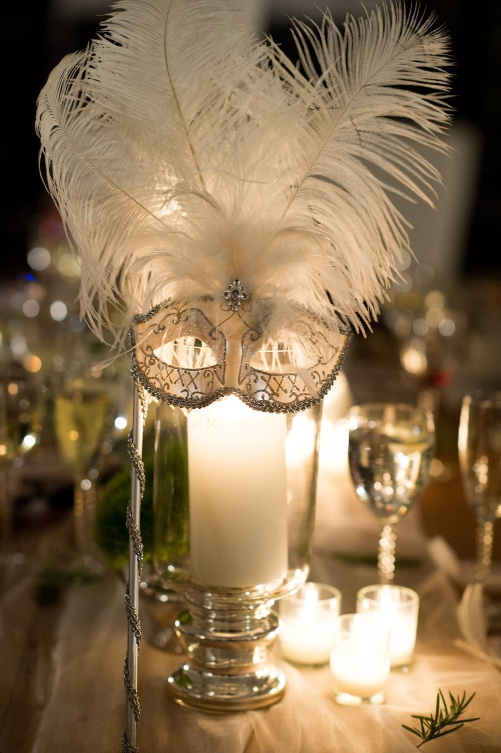 10 Stylish Masquerade Party Ideas For Adults garden glam hudson valley wedding masquerade ball table centers 2020