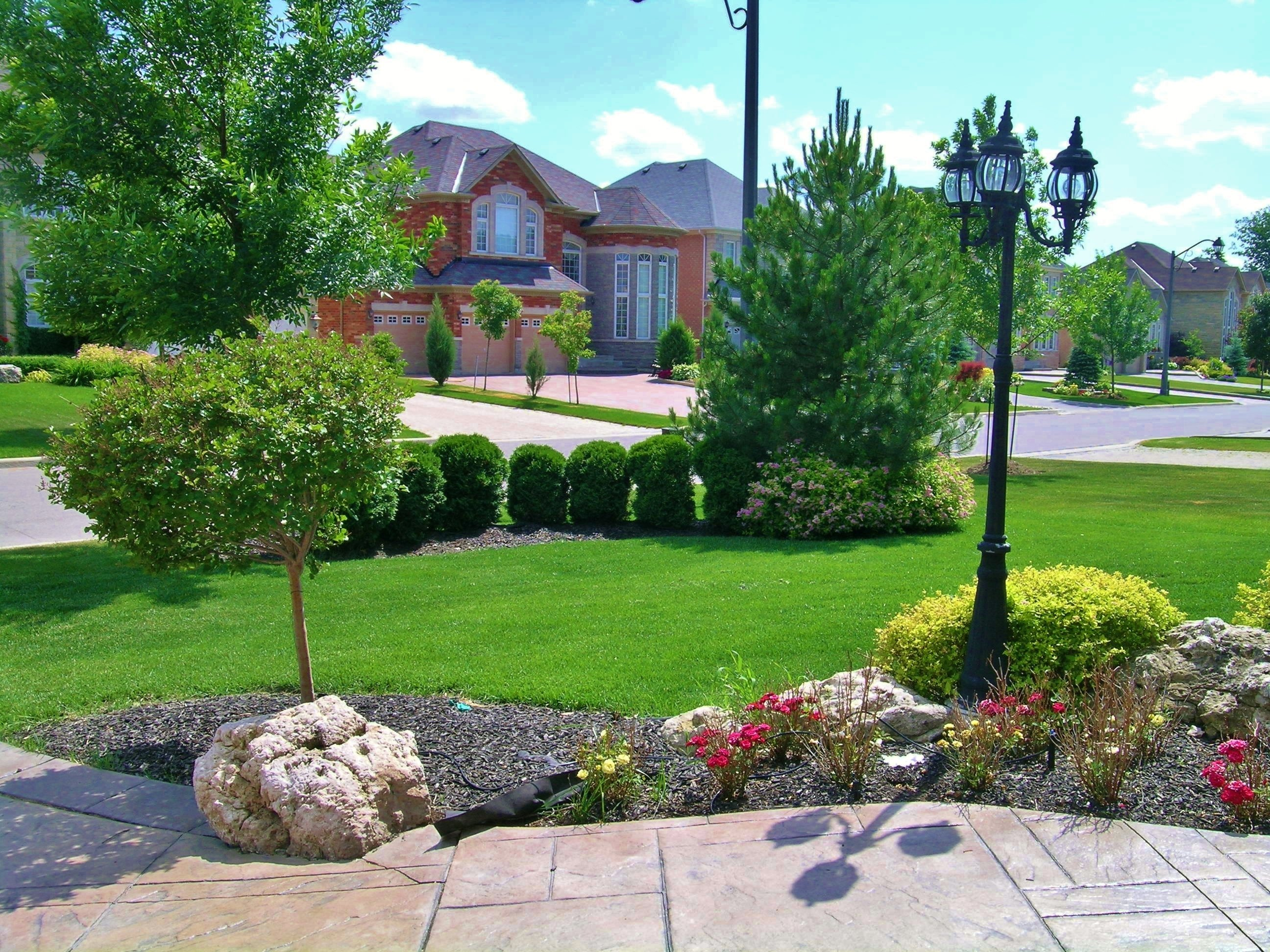 garden ideas : large front yard landscaping ideas fabulous front