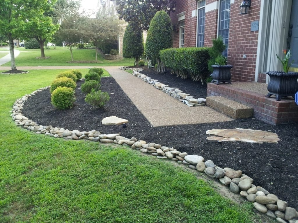 10 Stylish Edging Ideas For Flower Beds garden stones for flower beds wood border edging ideas stone