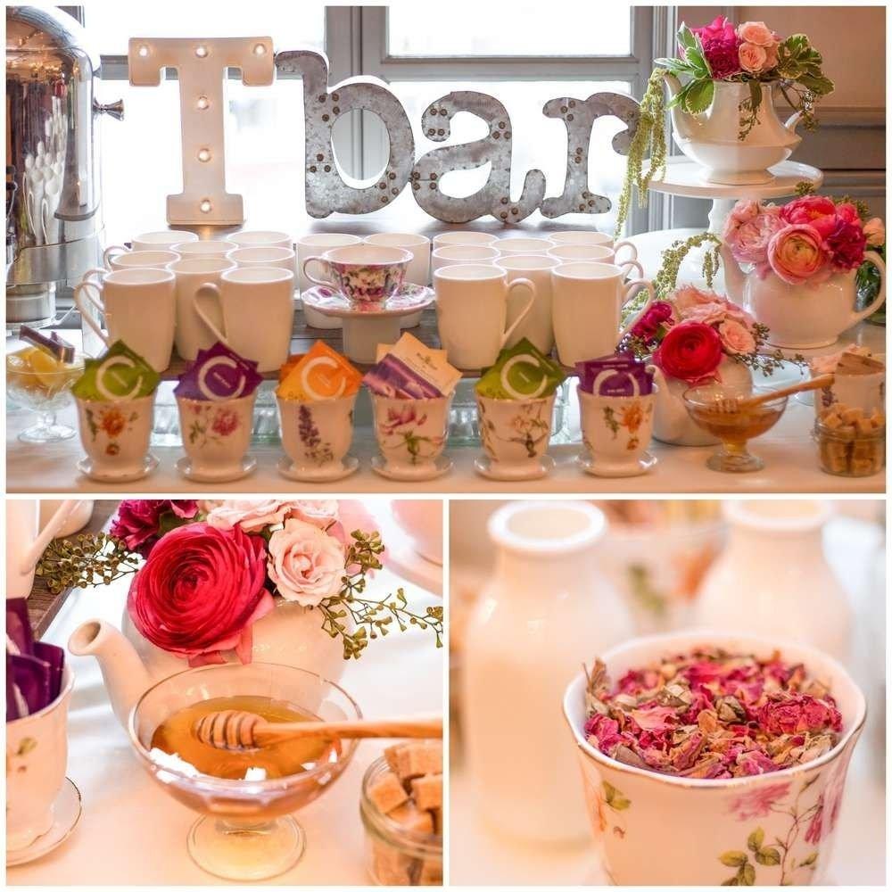 garden tea party bridal/wedding shower party ideas | maison de thé