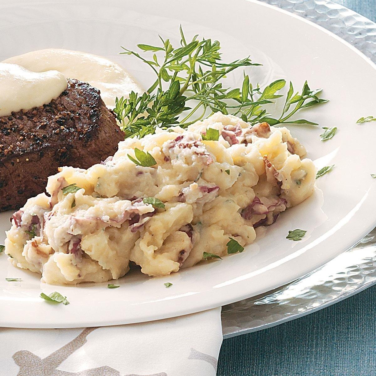 10 Fashionable Dinner Ideas With Mashed Potatoes garlic bacon stilton mashed potatoes recipe taste of home 2021