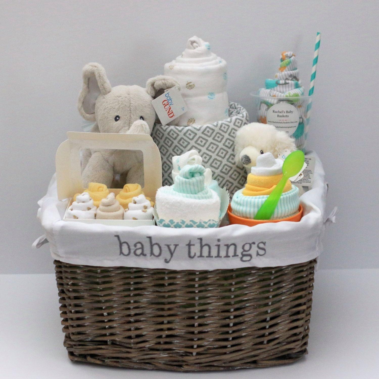 10 Stunning Baby Shower Gift Basket Ideas gender neutral baby gift basket baby shower gift unique baby gift