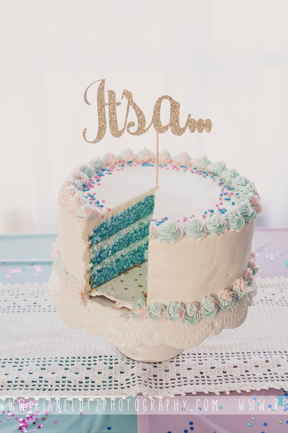 10 Beautiful Baby Gender Reveal Cake Ideas gender reveal cake its a boy cake topper purchased from 2020