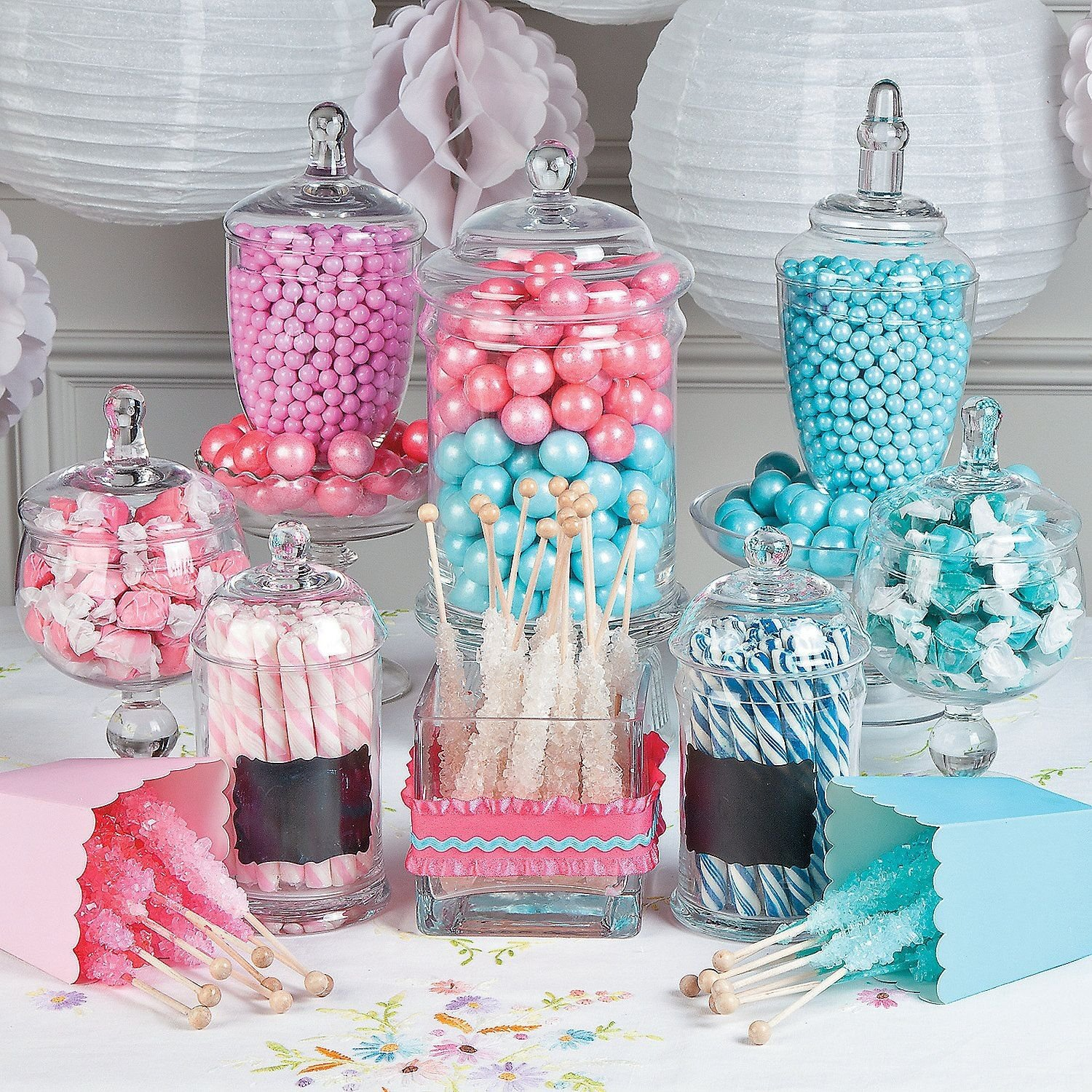 gender reveal candy buffet idea | is it a boy? is it a girl? reveal