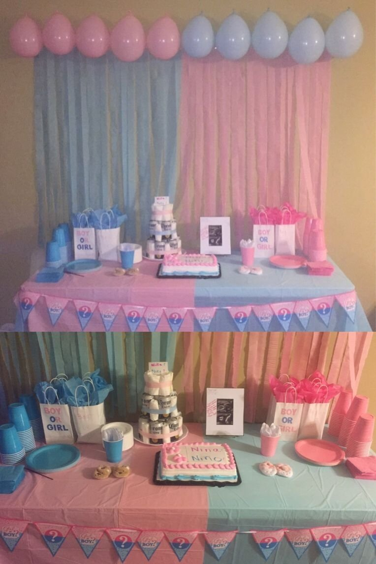 10 Trendy Gender Reveal Baby Shower Ideas gender reveal party decoration i did for my reveal shower pinteres 4 2020