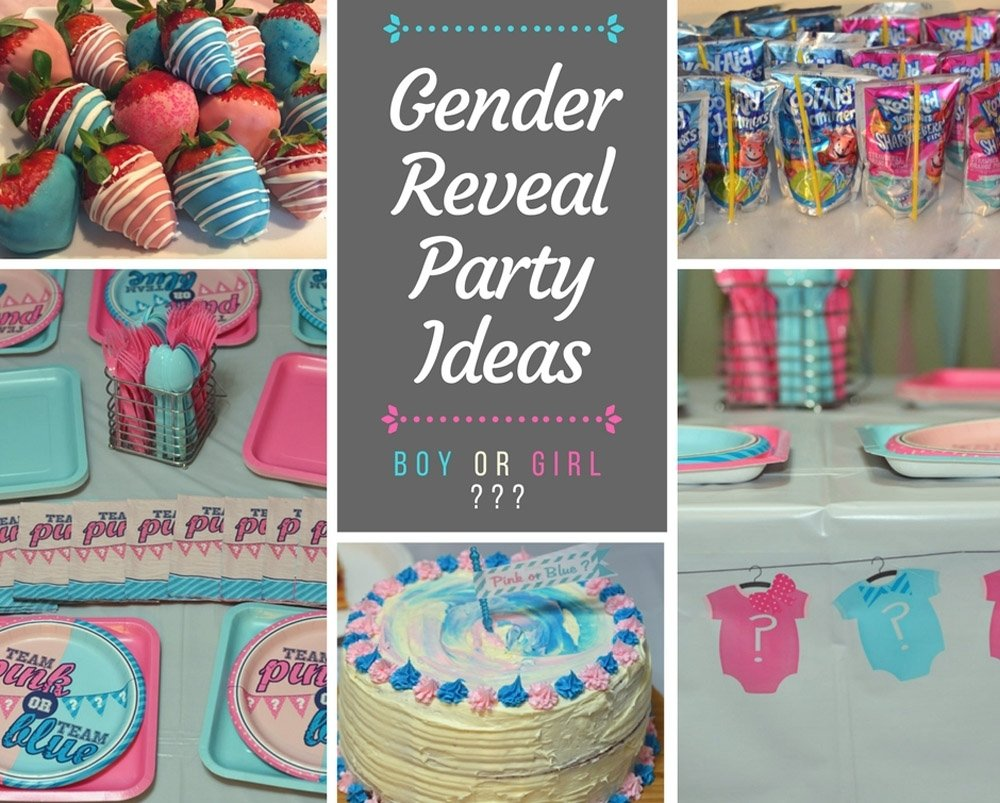 gender reveal party ideas - decoration and food ideas. - mommy's