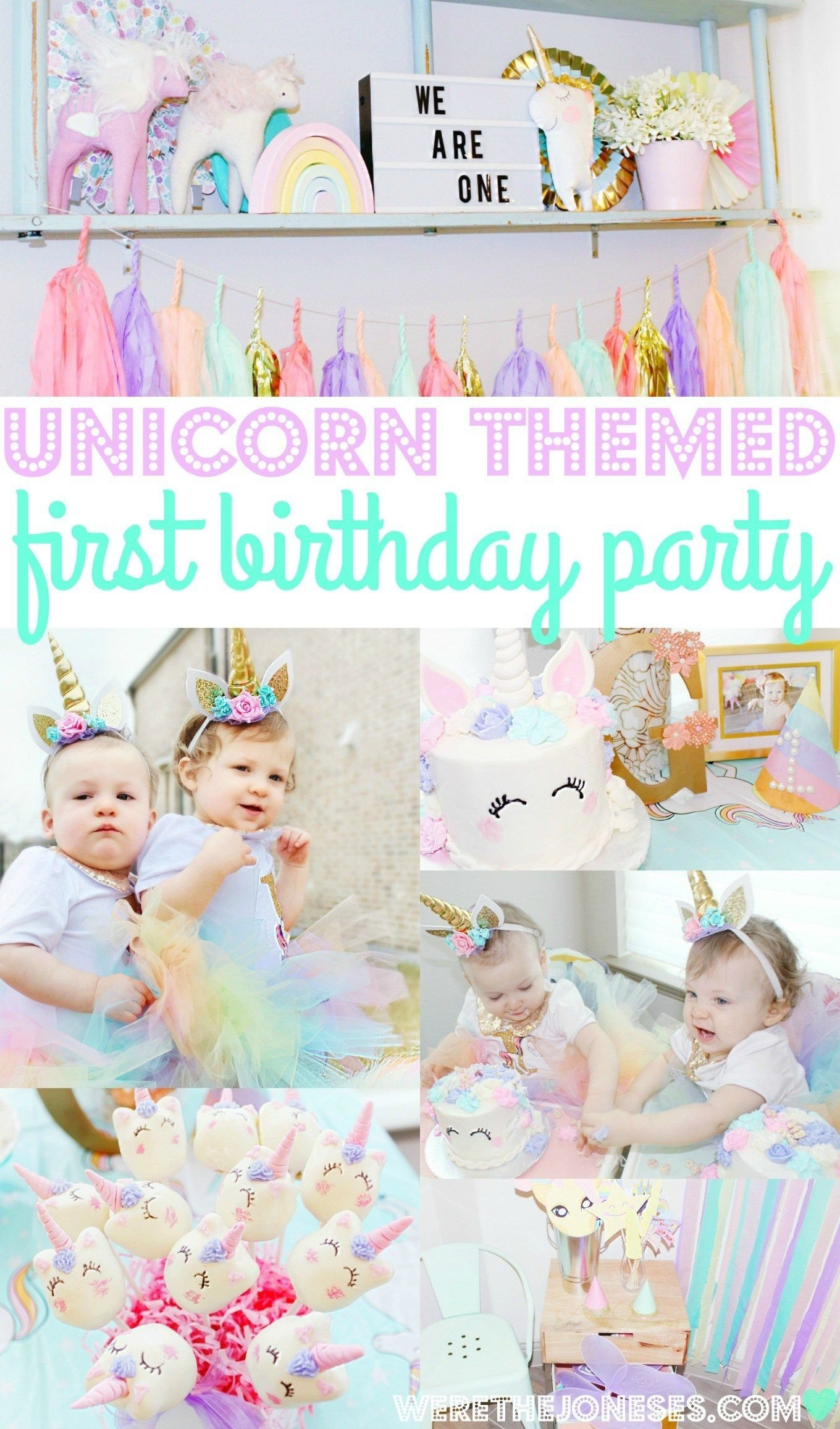 10 Lovable Twins First Birthday Party Ideas genevieve and georgia turn one a pretty pastel unicorn first