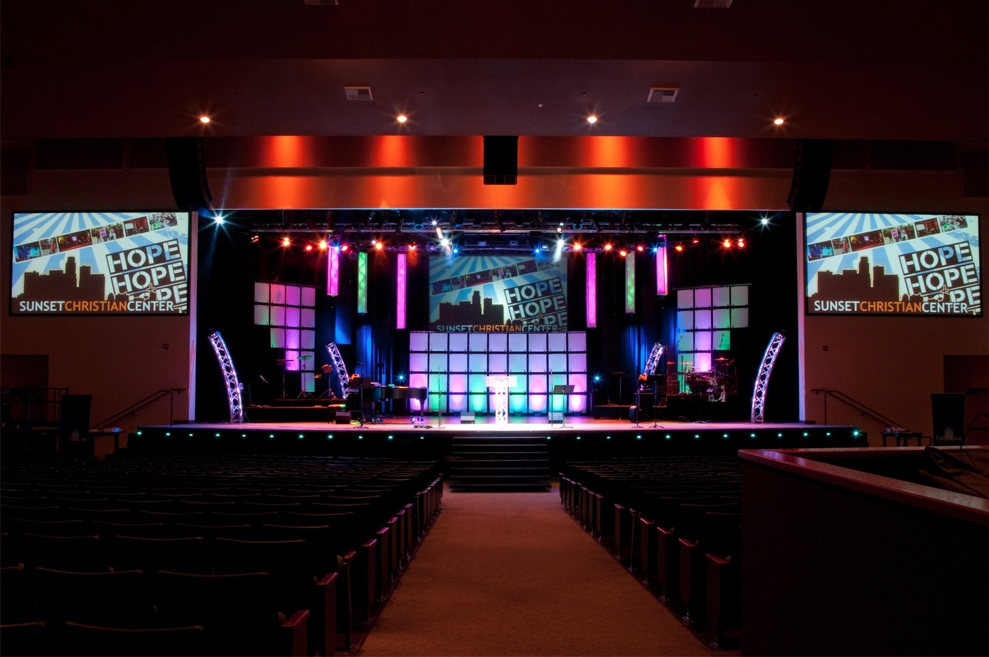 10 Unique Small Church Stage Design Ideas geometry church stage design ideas 2020