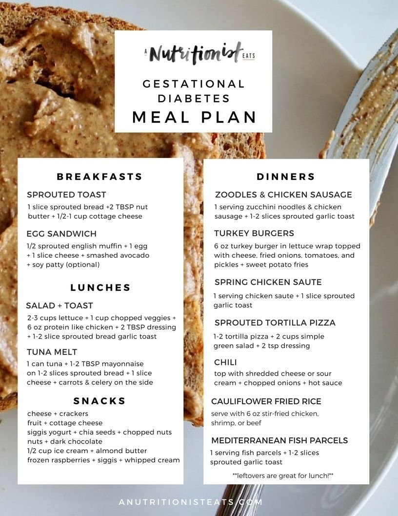 10 Awesome Gestational Diabetes Meal Plan Ideas gestational diabetes meal plan gestational diabetes meals