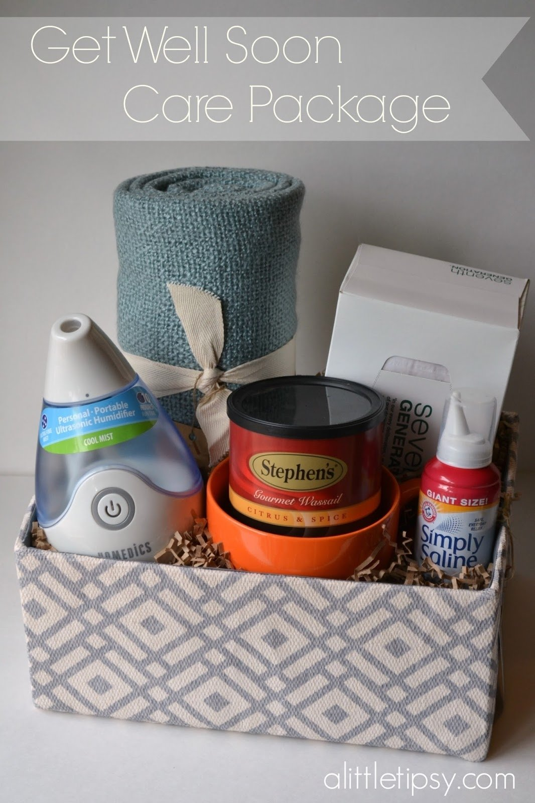10 Attractive Get Well Soon Care Package Ideas get well soon care package a little tipsy 2020