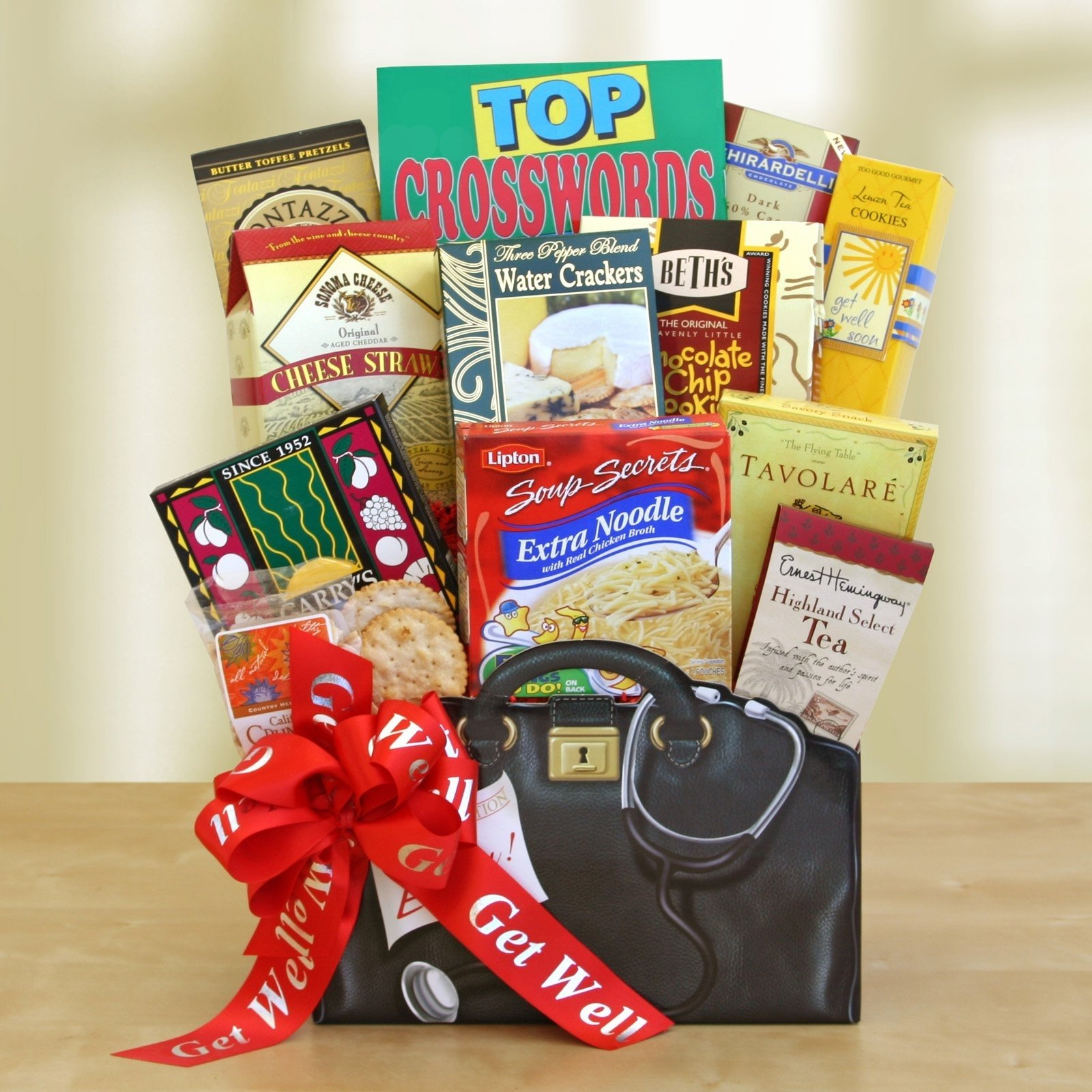 get well wishes gift basket | hayneedle