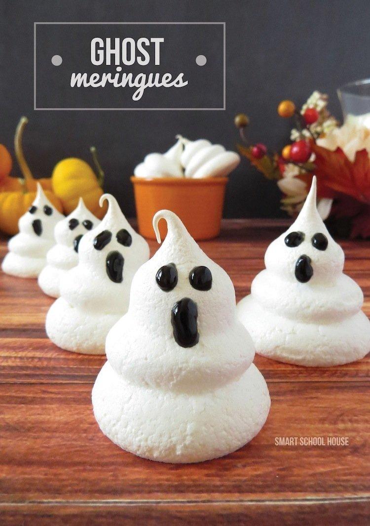 10 Unique Halloween Dessert Ideas For Kids ghost meringues