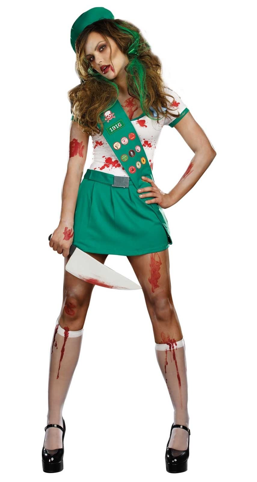 10 Amazing Zombie Costume Ideas For Girls ghoul scout adult costume buycostumes