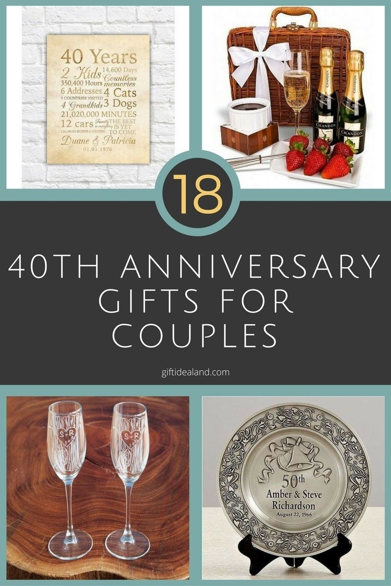 10 Fabulous 40 Year Anniversary Gift Ideas gift 40th wedding anniversary luxury 27 great 40th wedding 2020
