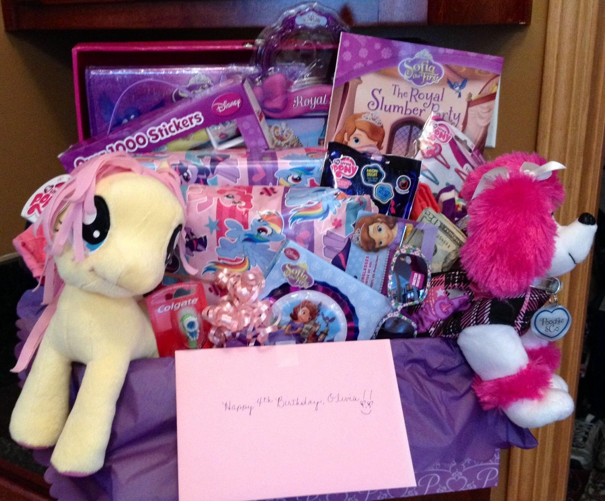 10 Attractive 4 Year Old Birthday Girl Gift Ideas Basket For A