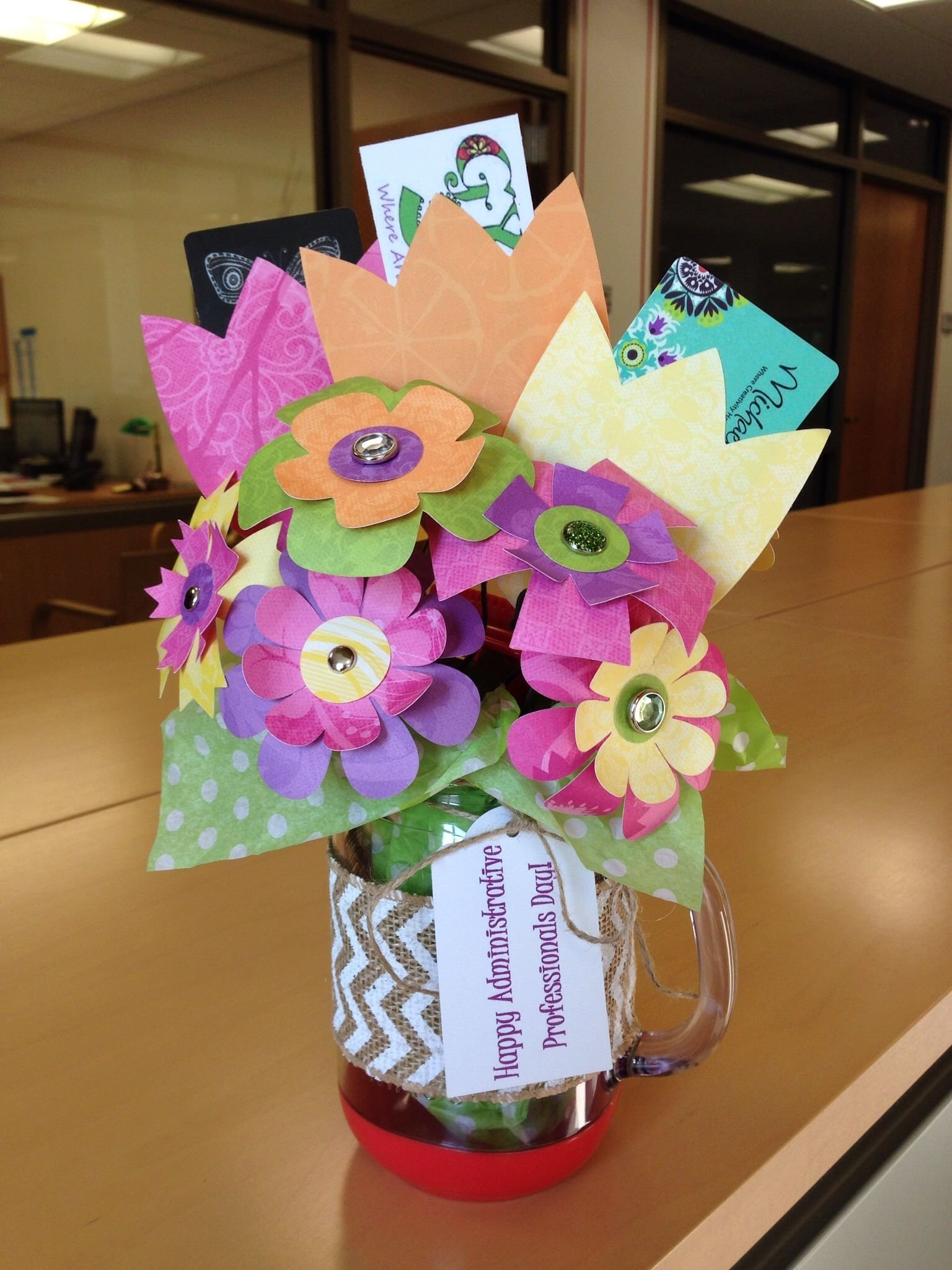 10 Famous Administrative Assistant Day Gift Ideas gift card bouquet for administrative professionals day would be 2020