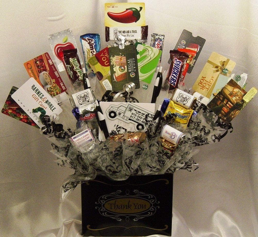 10 Trendy Thank You Gift Ideas For Men gift card gift basket put a variety of 5 10 and 15 gift cards