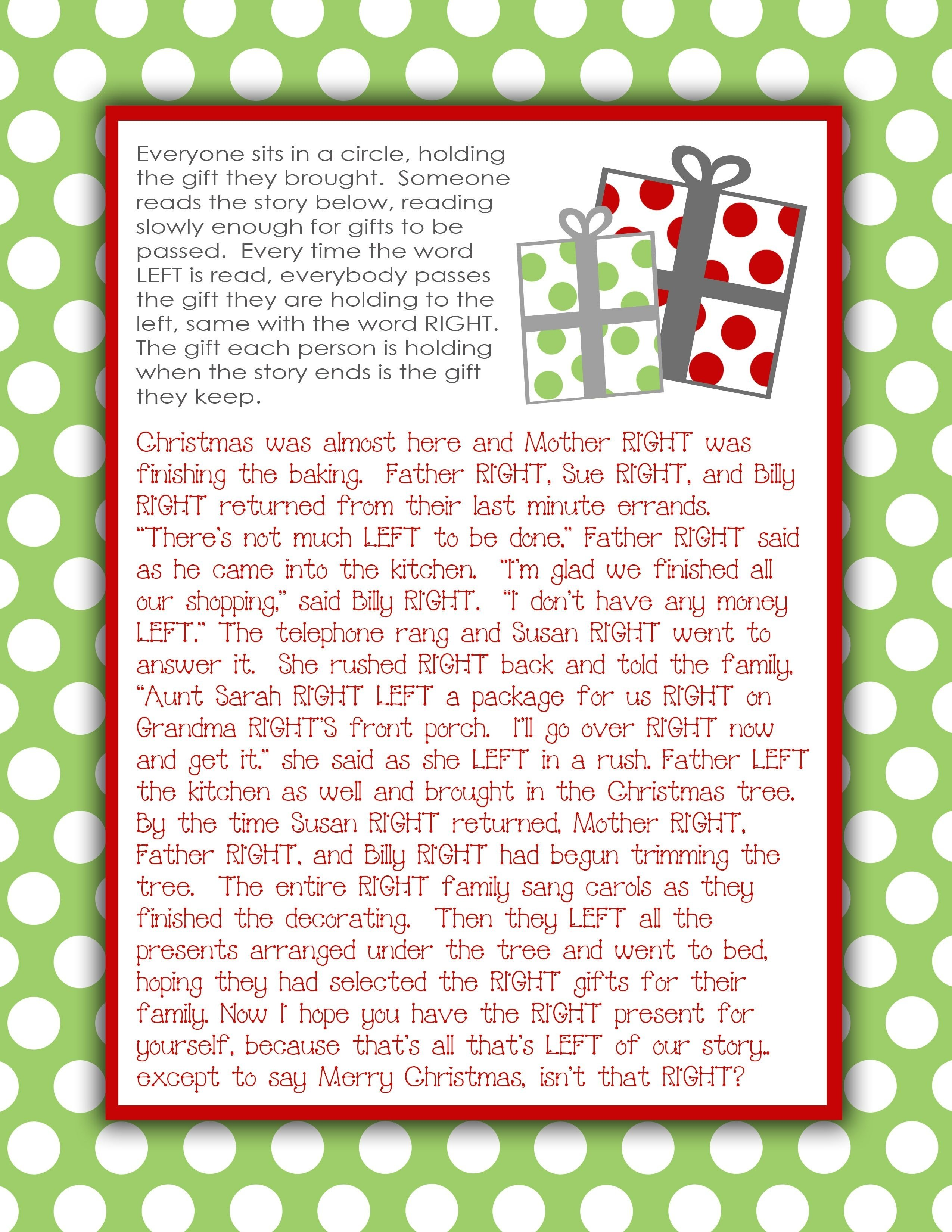 10 Beautiful Fun Christmas Gift Exchange Ideas gift exchange story printable what a great idea for a family gift