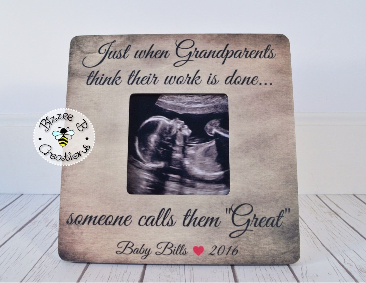 10 Fantastic Baby Announcement Ideas For Grandparents gift for great grandparents to be just when grandparents think 2020
