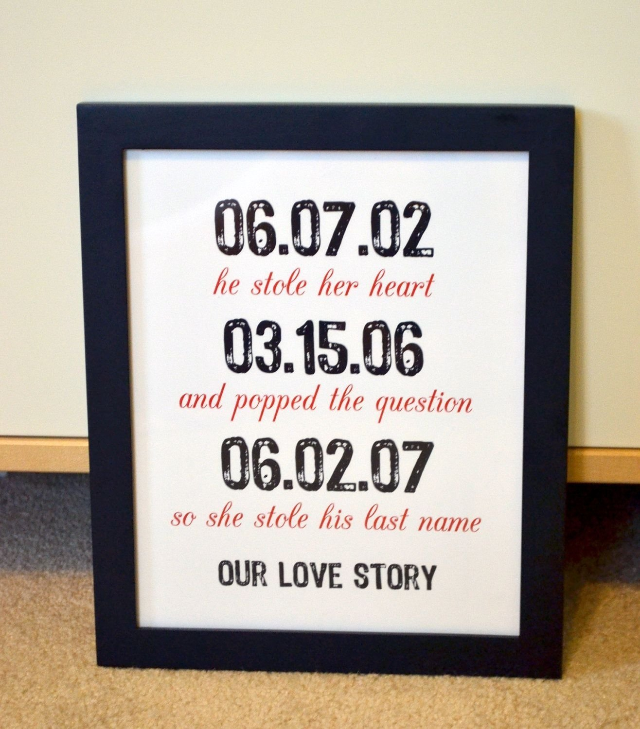10 Awesome 1St Year Anniversary Gift Ideas For Husband gift for husband 8x10 wedding gifts engagement party anniversary 5 2021