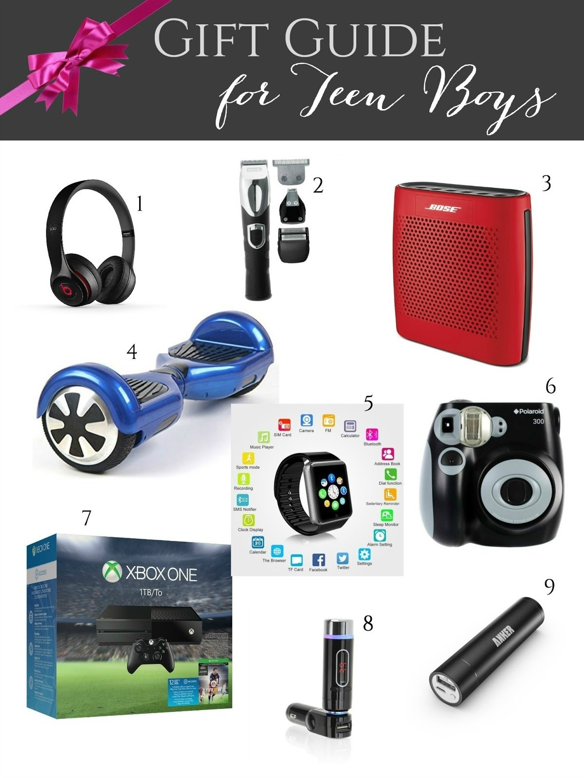 10 Unique Christmas Ideas For Teenage Guys gift guide for teen boys giveaways galore evolution of style
