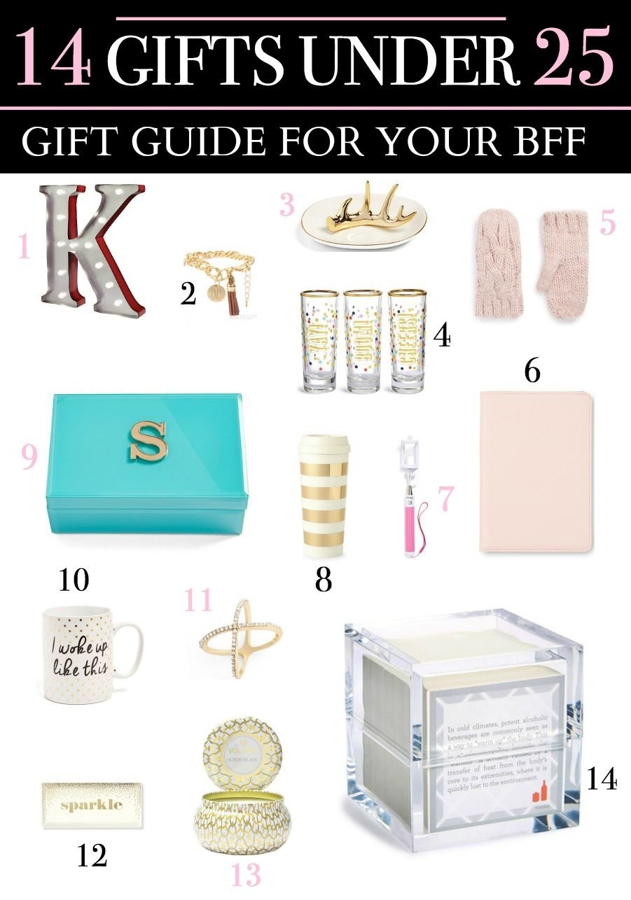 10 Spectacular Christmas Gift Ideas For Women Under 25 gift guide for your bff 14 adorable gifts under 25 dollars bff 1