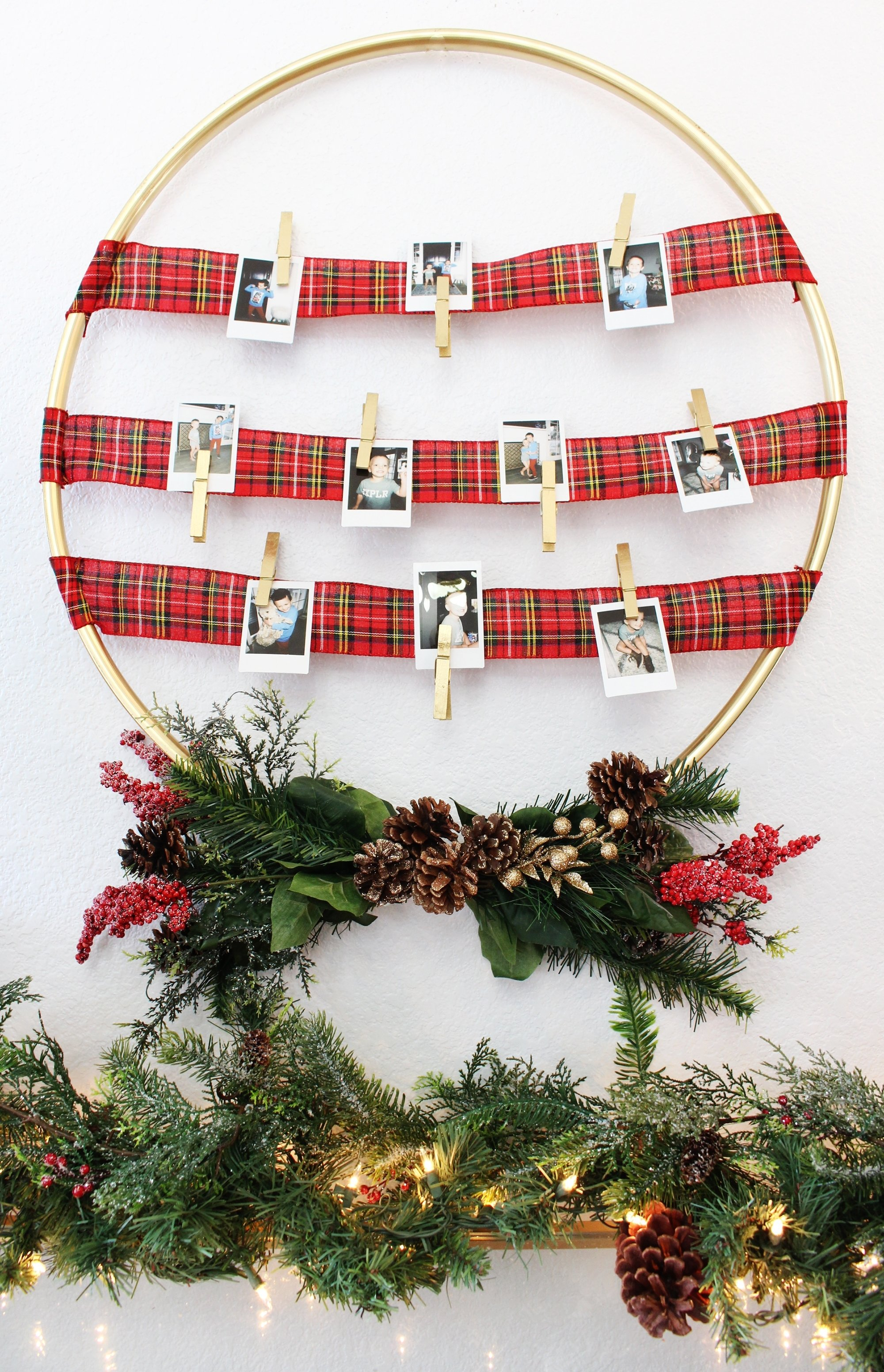 10 Ideal Christmas Gift Ideas For Inlaws gift idea diy photo display hoop classy clutter
