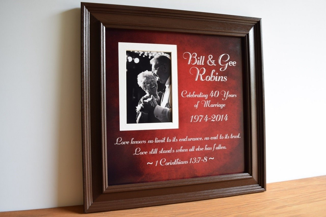10 Trendy 40Th Wedding Anniversary Gift Ideas For Parents gift ideas for 40th wedding anniversary for parents lovely 1