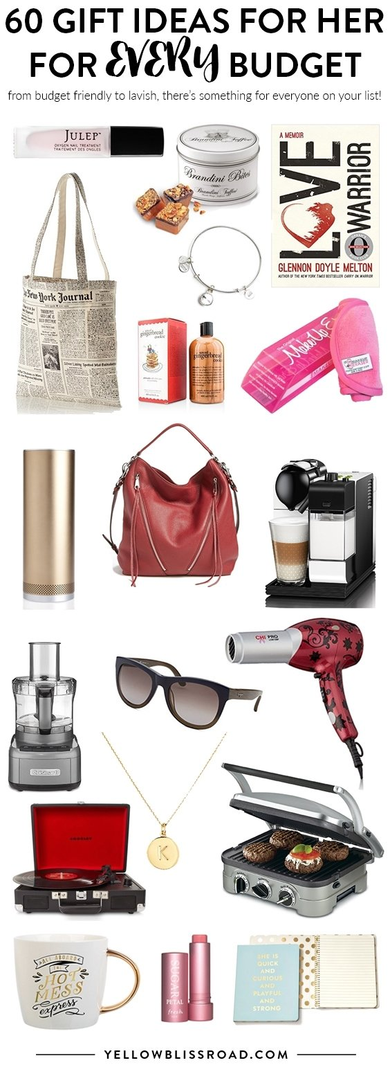 10 Nice Gift Ideas For Women Over 60 gift ideas for her to fit every budget new for 2016 yellow 2021