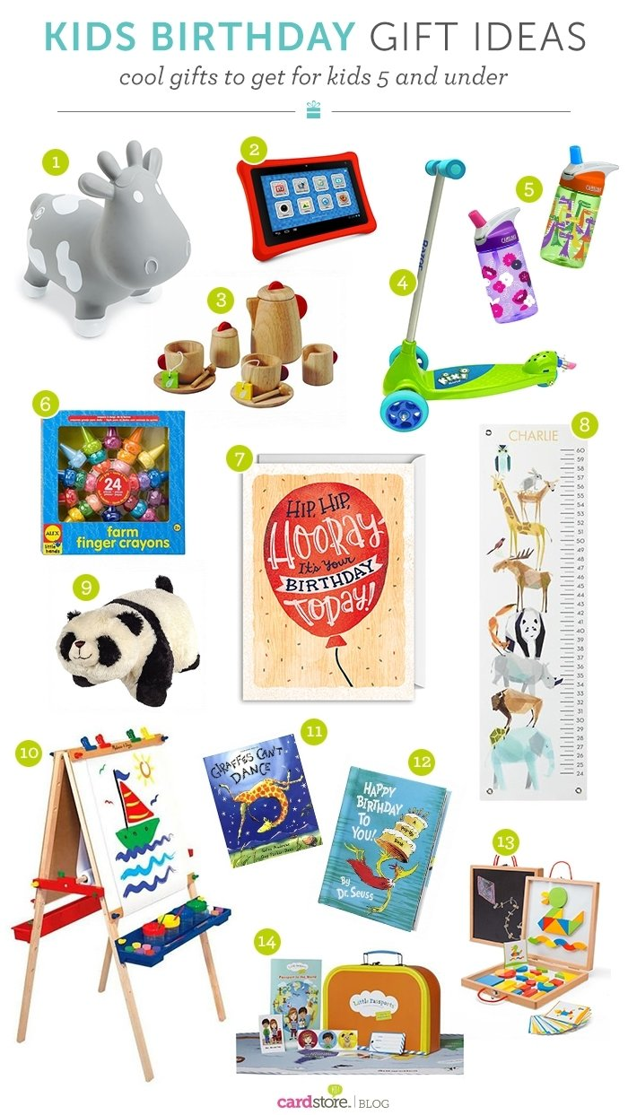 10 Wonderful Birthday Gift Ideas For Kids gift ideas for kids what to get for kids 5 and under cardstore blog 1 2020