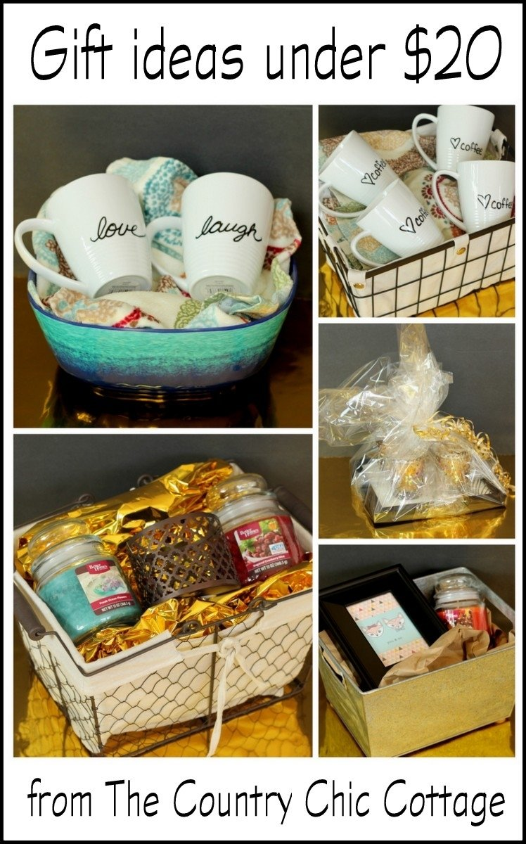 10 Cute Homemade Gift Basket Ideas For Christmas gift ideas under 20 the country chic cottage 5 2020