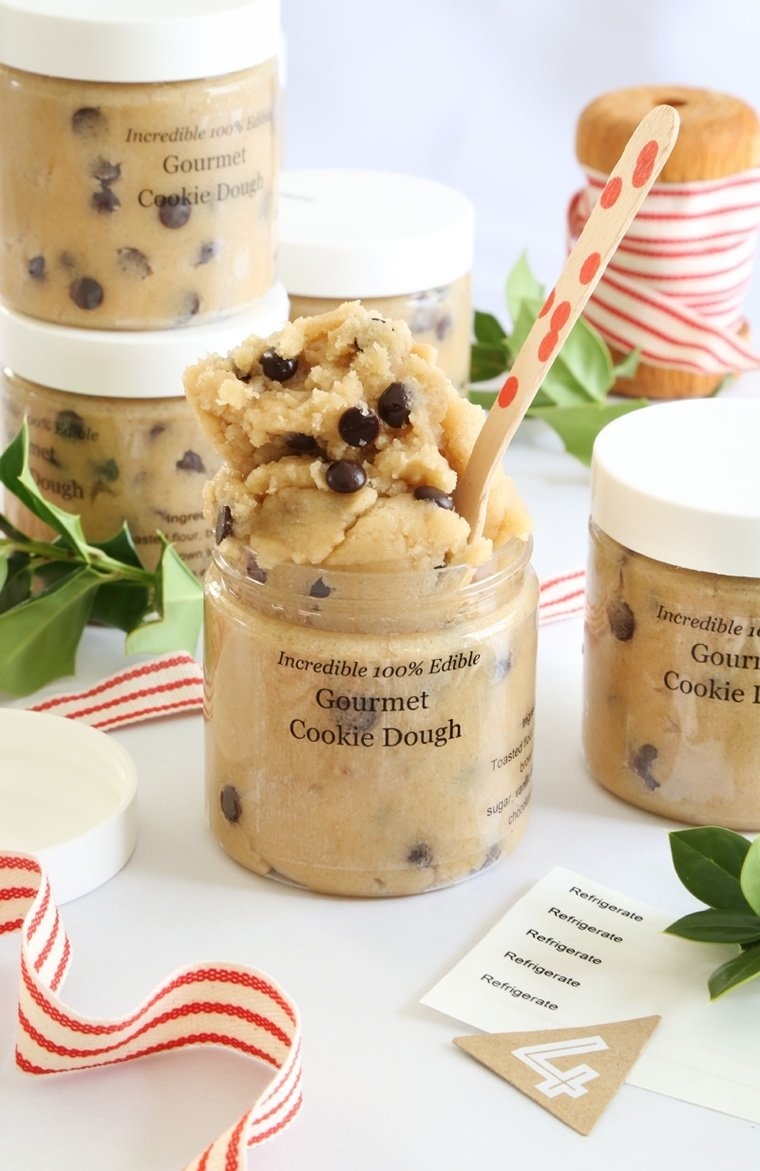 10 Famous Homemade Edible Christmas Gift Ideas gift this gourmet toasted cookie dough in a jar sprinkle bakes 2021