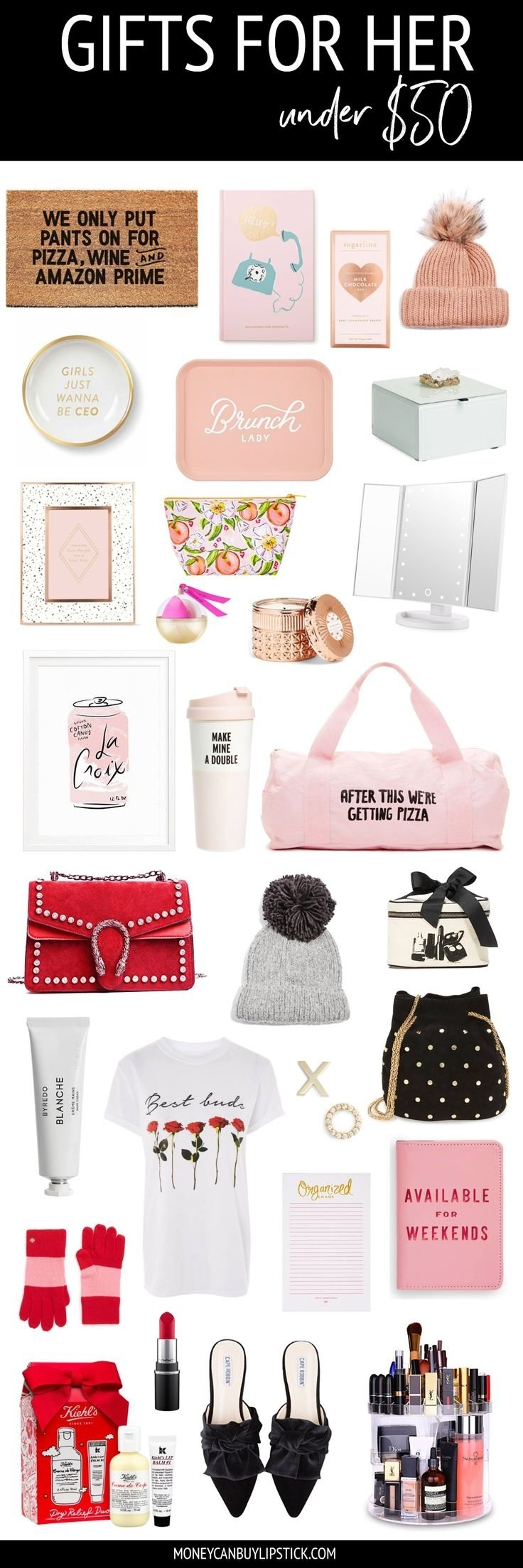 10 Unique Gift Ideas For Girl Best Friend gifts for her under 50 christmas gifts girly and 50th 2020