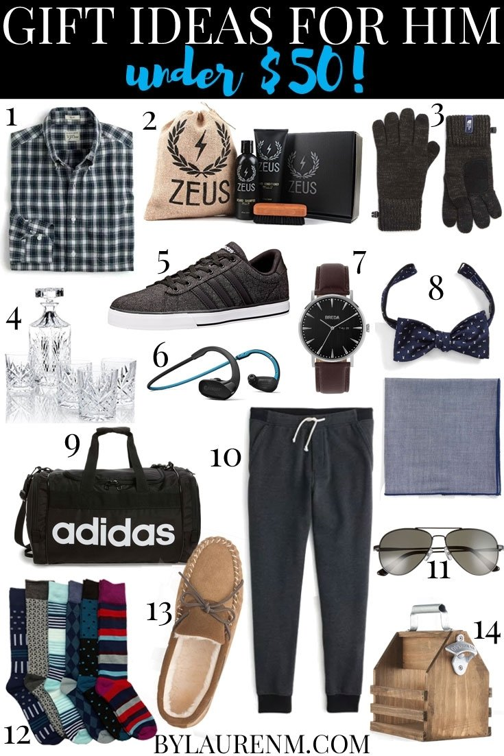 10 Pretty Gift Ideas For A Man gifts for men under 50 lauren m 2020