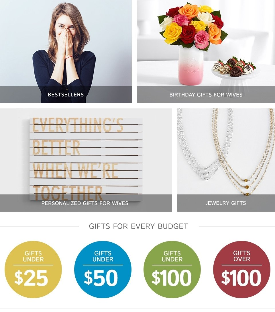 10 Fabulous 50Th Birthday Ideas For Wife gifts for wife personalized gift ideas for wife gifts 10