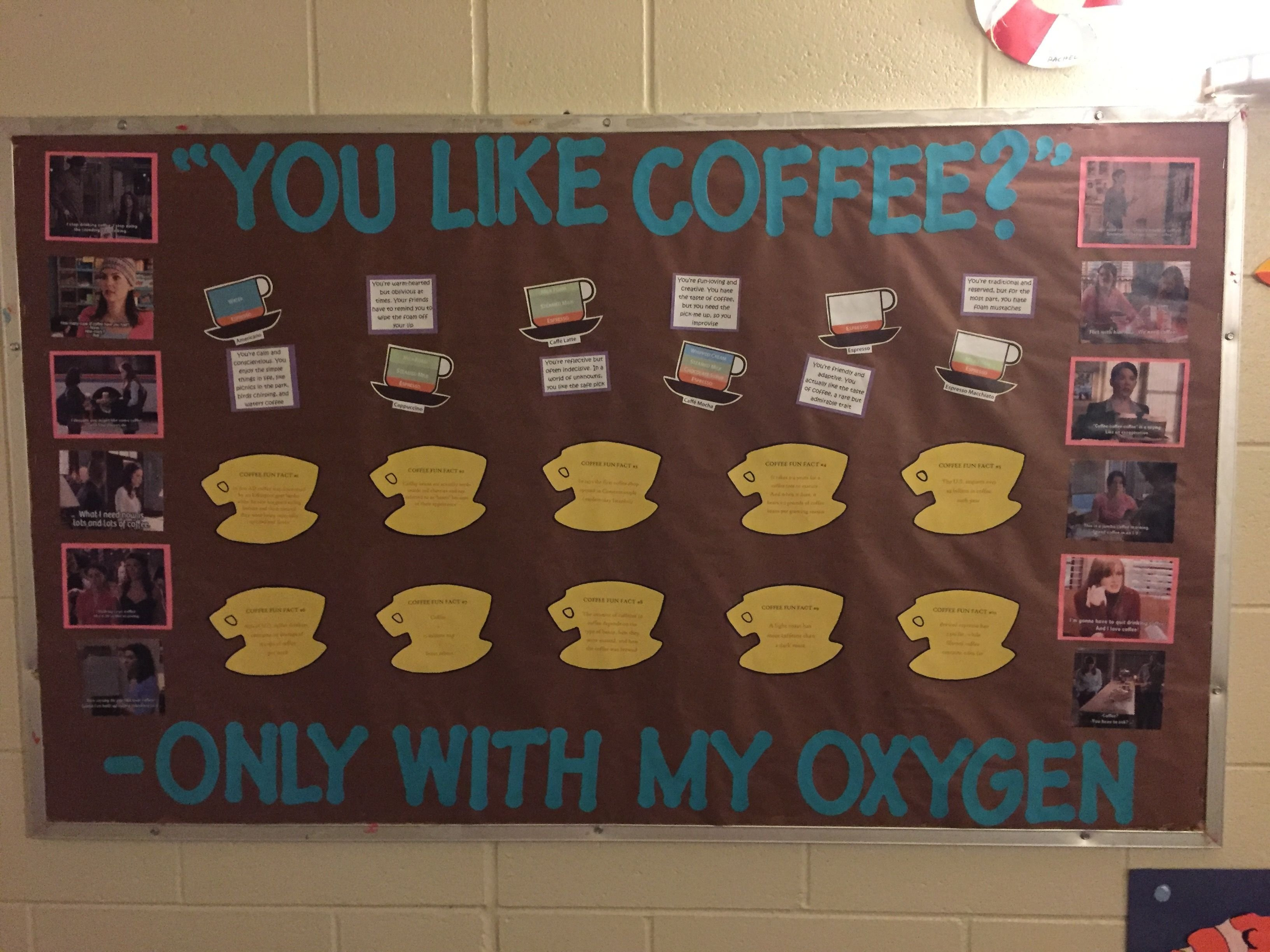10 Amazing Bulletin Board Ideas For Ras gilmore girls coffee facts ra bulletin board res life pinterest 2021