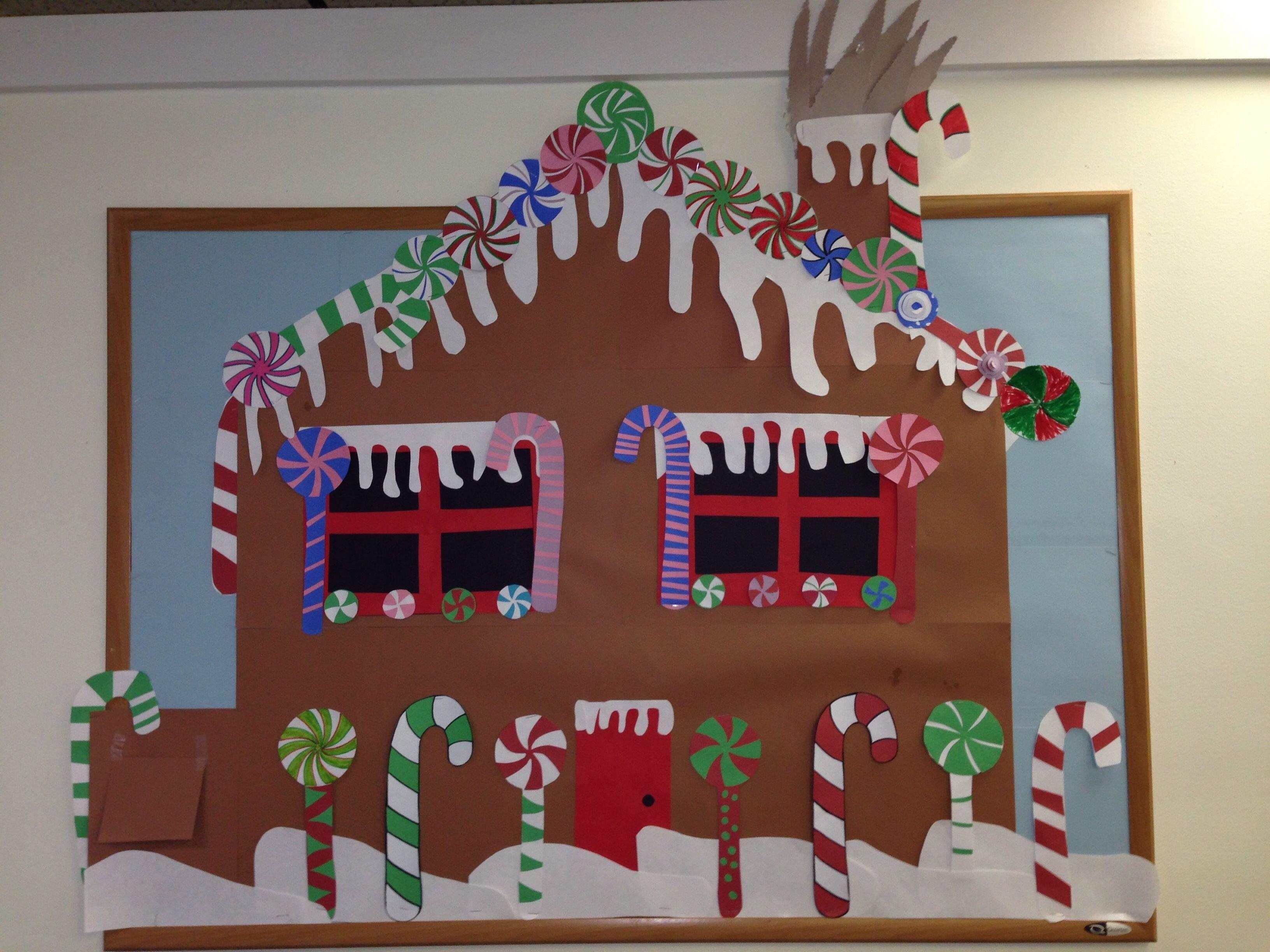 10 Perfect Gingerbread Man Bulletin Board Ideas gingerbread house candy christmas bulletin board christmas 2020