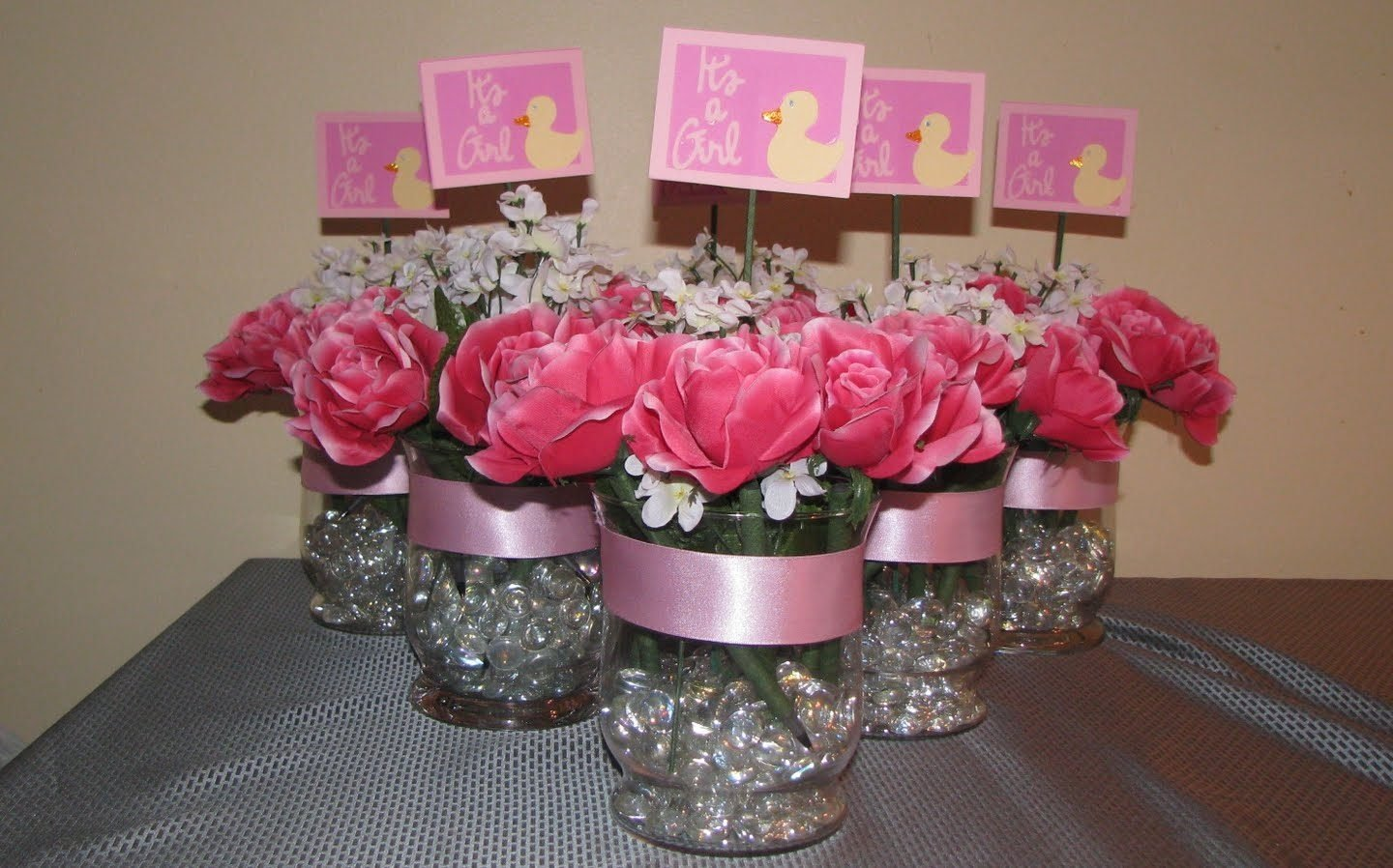 10 Gorgeous Ideas For Centerpieces For Baby Shower girl baby shower centerpiece ideas impressive table pink and gold 2021
