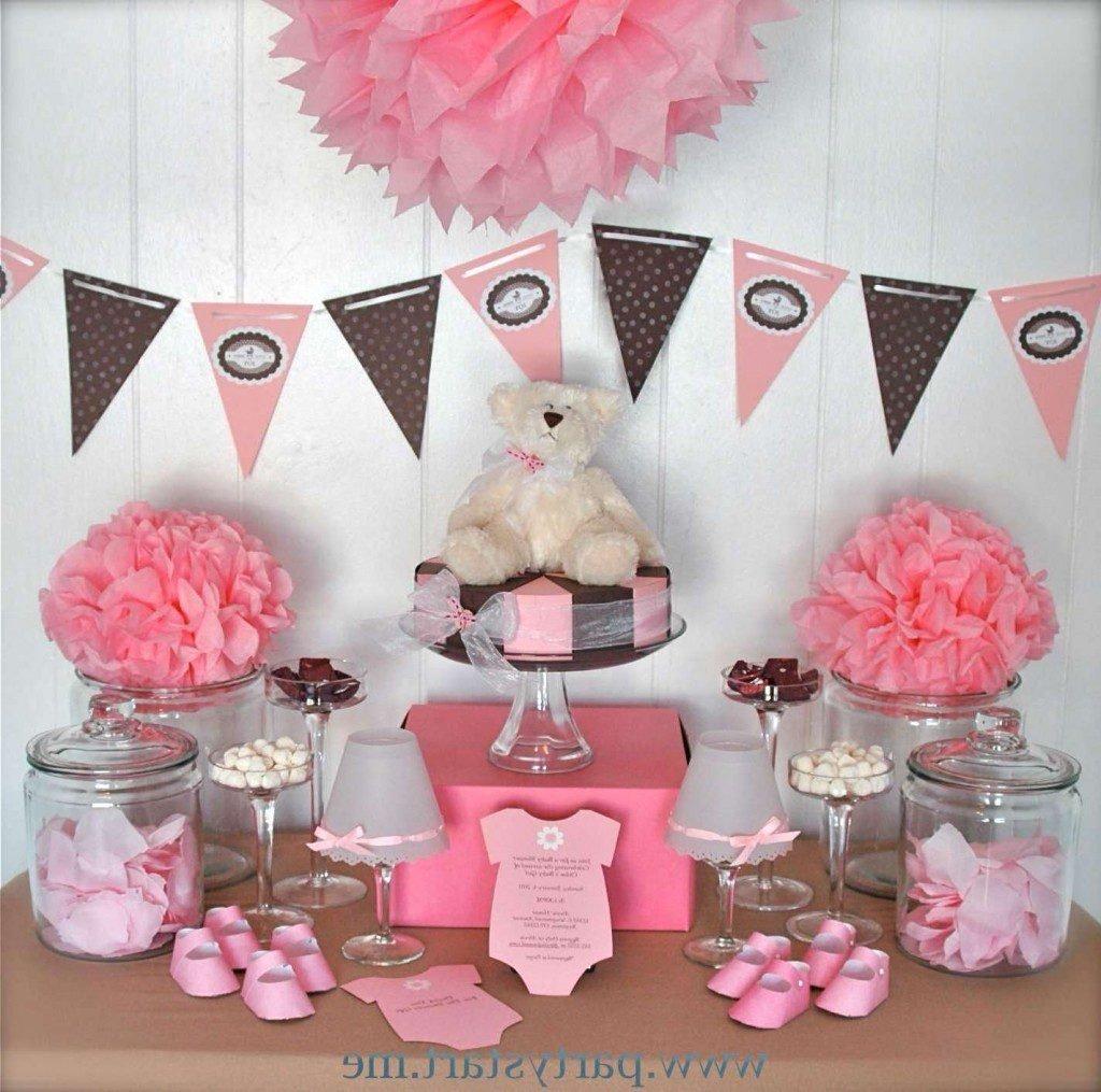 10 Most Popular Baby Shower Table Centerpiece Ideas girl baby shower table centerpiece ideas pink and grayn gold dessert 2021