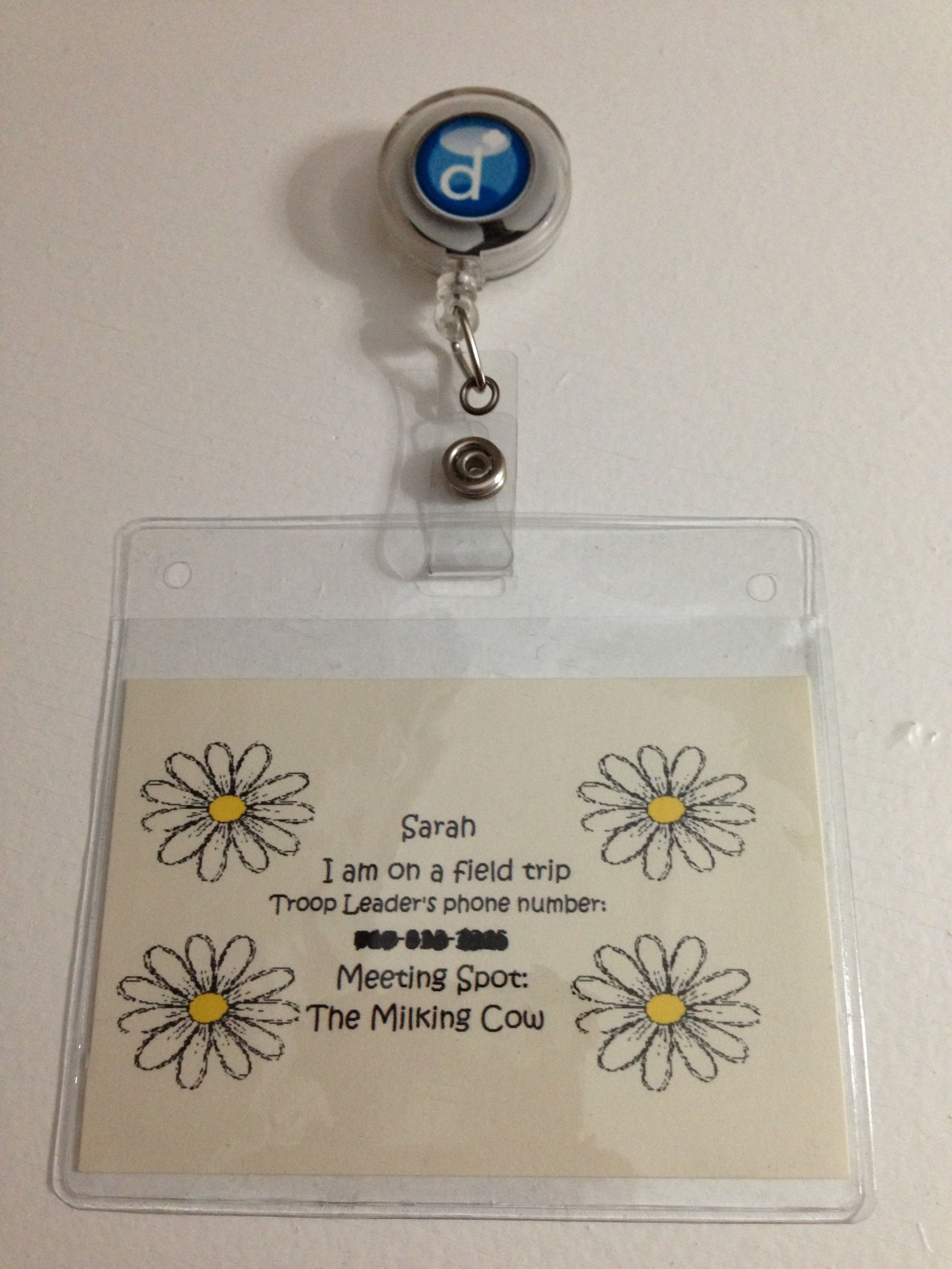 10 Fashionable Girl Scout Field Trip Ideas girl scout field trip i made each girl a name badge with the troop 2020