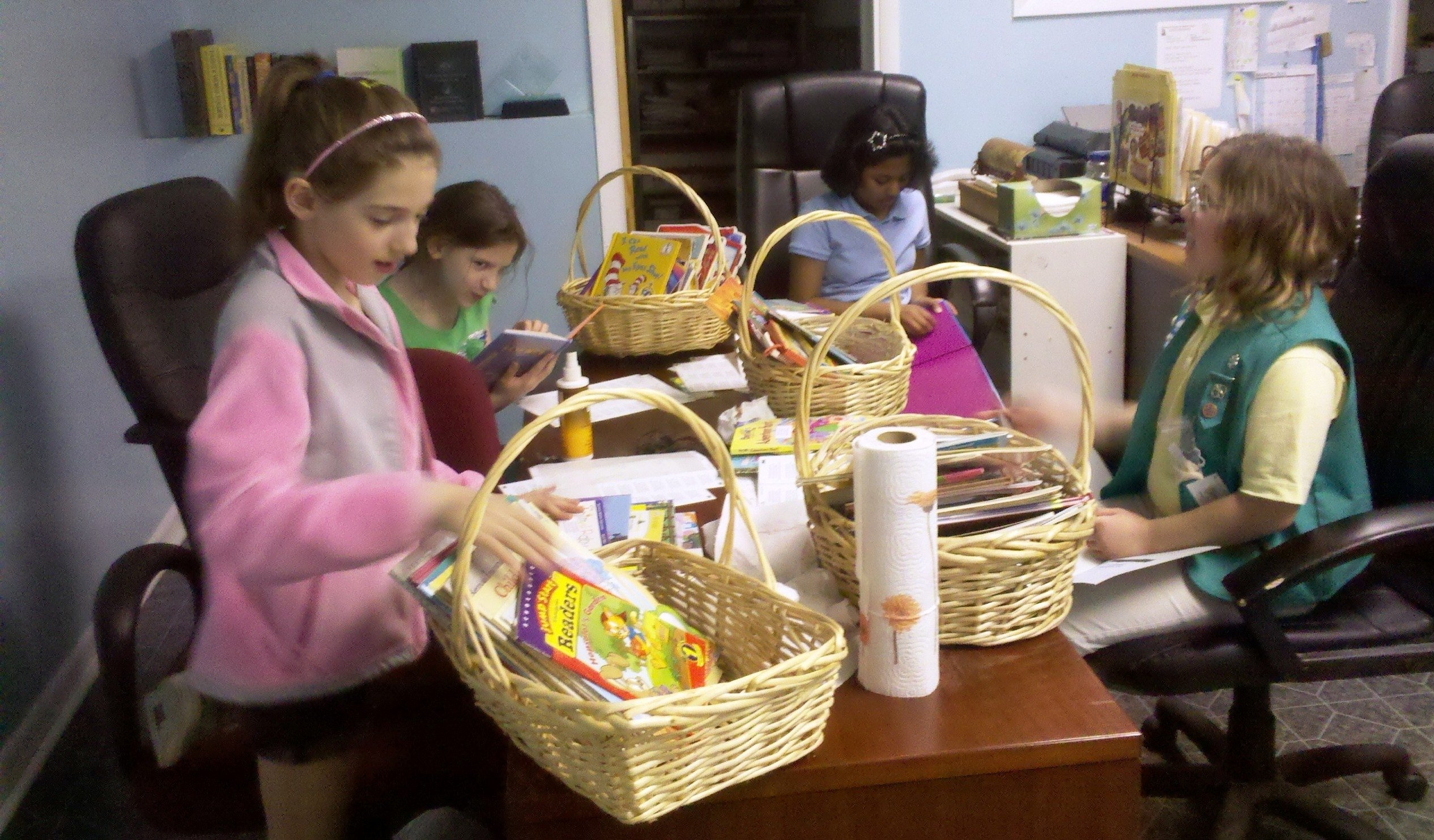 girl scout troop #969 works to earn the prestigious girl scout