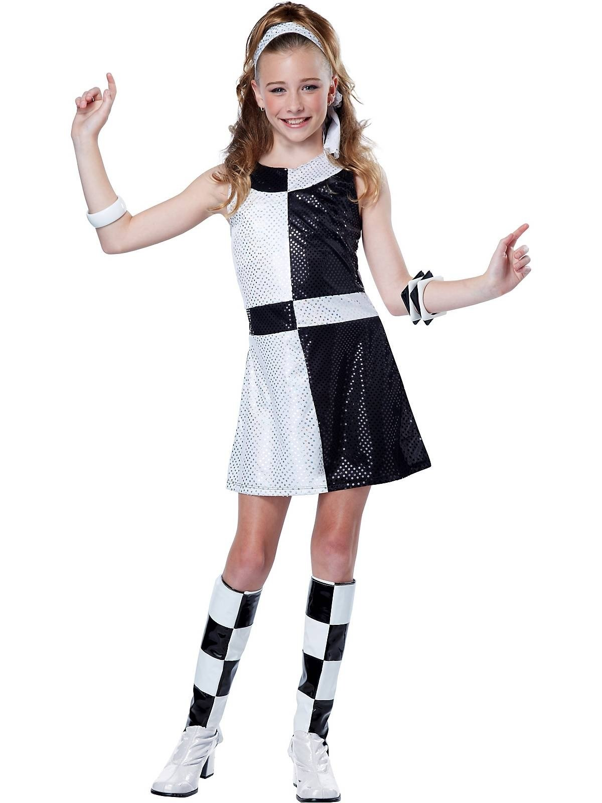 10 Best Black And White Costume Ideas girls 60s mod chic costume wholesale 60s costumes for girls 70s